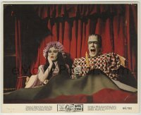 1s034 MUNSTER GO HOME color 8x10 still '66 Fred Gwynne & Yvonne De Carlo wake up scared in bed!