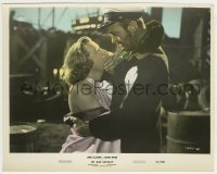 1s036 MY MAN GODFREY color 8x10 still '57 c/u of David Niven covering June Allyson's mouth!