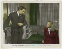 1s037 NIGHTMARE ALLEY color 8.25x10.25 still '47 Helen Walker stares at Tyrone Power pointing!