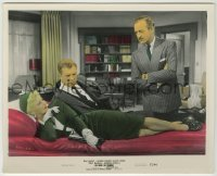 1s039 OH MEN OH WOMEN color 8x10 still '57 Ginger Rogers laying down by Dan Dailey & David Niven!