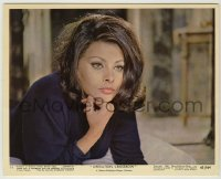 1s040 OPERATION CROSSBOW color 8x10 still #11 '65 great close up of sexy spy Sophia Loren!