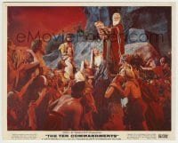 1s043 TEN COMMANDMENTS color 8x10 still '56 best image of Charlton Heston as Moses with tablets!
