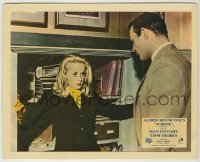 1s029 MARNIE color English FOH LC '64 Tippi Hedren stops Sean Connery from getting in safe!