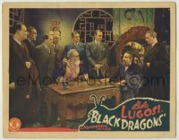 1y039 BLACK DRAGONS LC '42 Bela Lugosi performs plastic surgery on Japanese to make them Americans!