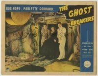 1y035 GHOST BREAKERS LC '40 Bob Hope, Paulette Goddard & Richard Carlson scared in abandoned mine!