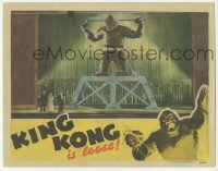 1y004 KING KONG LC R42 best image of giant ape chained on stage in front of huge crowd!
