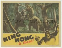 1y003 KING KONG LC R42 best special effects image of the giant ape fighting dinosaur in jungle!
