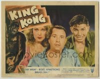1y009 KING KONG LC #1 R56 best close up of terrified Fay Wray, Robert Armstrong & Bruce Cabot!