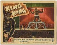 1y007 KING KONG LC #3 R56 best image of the ape chained on stage by Fay Wray, Armstrong & Cabot!