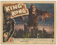 1y005 KING KONG LC #4 R56 classic image of giant ape holding Fay Wray over New York Skyline!