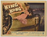 1y010 KING KONG LC #5 R56 Fay Wray & Bruce Cabot on the Empire State Building at film's climax!