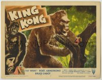 1y008 KING KONG LC #7 R56 special effects image of the giant ape by Fay Wray in tree, rare!