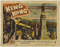 1y006 KING KONG LC #8 R56 classic image of giant ape on Empire State Building, great border art!