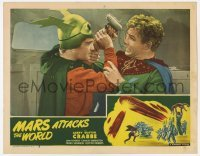 1y030 MARS ATTACKS THE WORLD LC #5 R50 c/u of Buster Crabbe as Flash Gordon in death struggle!