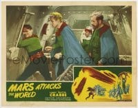1y031 MARS ATTACKS THE WORLD LC #7 R50 Buster Crabbe as Flash Gordon with his crew opening door!
