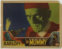 1y017 MUMMY LAMINATED LC #4 R51 incredible c/u of Boris Karloff before he becomes the monster, rare!