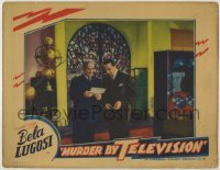 1y023 MURDER BY TELEVISION LC '35 great image of Bela Lugosi & Mailes in laboratory, ultra rare!