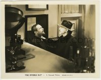 2a034 INVISIBLE RAY 8x10.25 still '36 great close up of scientists Boris Karloff & Bela Lugosi!