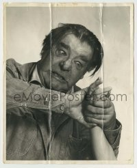2a030 OF MICE & MEN signed stage play 8x10 still '39 by Lon Chaney Jr., as murderous Lenny!