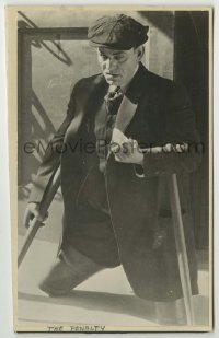 2a039 PENALTY 4.25x7.25 still '20 close portrait of Lon Chaney Sr. appearing legless without fx!