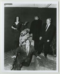 2a027 VAMPIRA signed 8x10 REPRO still '80s with Tor Johnson & others in Plan 9 From Outer Space!