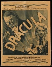 2a019 DRACULA herald '31 Tod Browning, Bela Lugosi, do vampires really exist, great images!