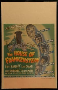 2a042 HOUSE OF FRANKENSTEIN WC '44 Boris Karloff & all top monster stars in make-up, ultra rare!