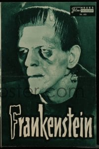 2a013 FRANKENSTEIN Austrian program R57 many different images of Boris Karloff as the monster!