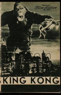 2a014 KING KONG Austrian program '33 classic image of ape holding Fay Wray over New York City!