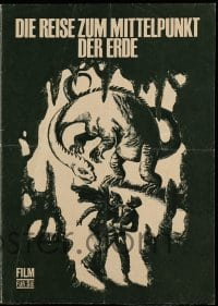 2a015 JOURNEY TO THE CENTER OF THE EARTH East German program '67 Jules Verne, great dinosaur art!
