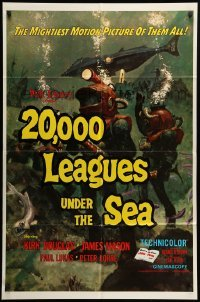 2b009 20,000 LEAGUES UNDER THE SEA 1sh R71 Jules Verne classic, wonderful art of deep sea divers!