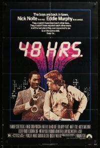 2b006 48 HRS. 1sh '82 Nick Nolte is a cop who hates Eddie Murphy who is a convict!