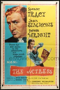 2b013 ACTRESS 1sh '53 George Cukor, Jean Simmons, Spencer Tracy!