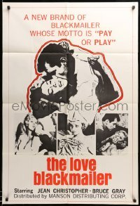 2b015 ADULTEROUS AFFAIR 1sh '66 a new brand of Love Blackmailer whose motto is 'pay or play'!