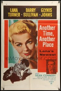 2b034 ANOTHER TIME ANOTHER PLACE 1sh '58 sexy Lana Turner has an affair with young Sean Connery!