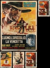2m070 LOT OF 7 FOLDED ITALIAN TWO-PANELS '60s-70s spaghetti western, military & more!