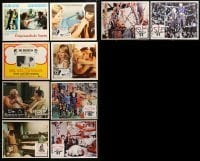 2m057 LOT OF 10 MEXICAN LOBBY CARDS '70s-80s great scenes from a variety of different movies!