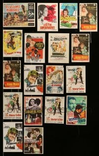 2m056 LOT OF 18 SPANISH HERALDS '40s-60s great images from a variety of different movies!