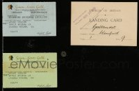 2m034 LOT OF 3 WYNNE GIBSON ITEMS '35 & '83 her Screen Actors Guild cards + English landing card!