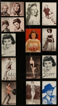 2m025 LOT OF 13 ARCADE CARDS '40s great portraits of beautiful Hollywood actresses!