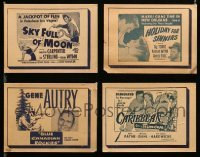2m036 LOT OF 4 THEATER DISPLAY CARDS '50s great images from a variety of different movies!