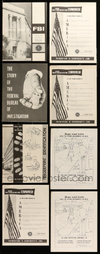 2m039 LOT OF 8 FBI BROCHURES '50s-60s what YOU can do to fight Communism, J. Edgar Hoover + more!