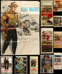 2m066 LOT OF 13 FOLDED MOSTLY ITALIAN POSTERS '60s great images from a variety of movies!