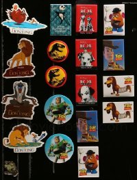 2m029 LOT OF 19 MOSTLY DISNEY PROMO PINS '90s Lion King, Toy Story, Jurassic Park, Aladdin +more!