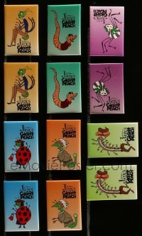 2m024 LOT OF 12 JAMES & THE GIANT PEACH PROMO PINS '96 great images of cartoon insect characters!