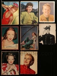 2m038 LOT OF 8 CUT MAGAZINE PAGES '40s top stars including Bette Davis & Ginger Rogers!