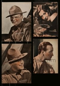 2m017 LOT OF 4 PICTURE FRAME PHOTOS '40s James Cagney, Barbara Stanwyck, Pat O'Brien, David Niven
