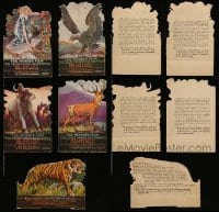 2m001 LOT OF 5 ENGLISH 4x5 DIE-CUT LOST CITY MINI STANDEES '20 wild animals from Selig's zoo!