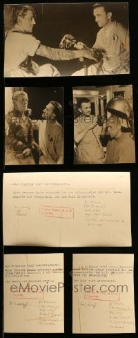 2m002 LOT OF 3 GERMAN MUMMY CANDID PHOTOS '30s Boris Karloff & Jack Pierce shown on each!