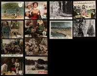 2m062 LOT OF 12 GERMAN LOBBY CARDS '60s-70s great scenes from a variety of different movies!